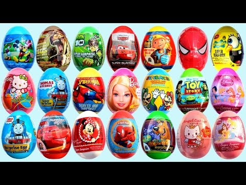 453 Kinder Surprise Eggs! 6H! Mickey Mouse, Peppa Pig ,Barbie ,Frozen Spongebob CarsToon Spiderman