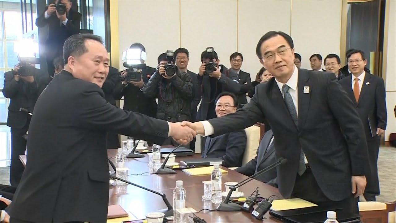 N. Korea, S. Korea begin talks as Winter Olympics help break ice