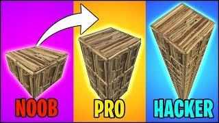 NOOB vs PRO vs HACKER BUILDING in Fortnite Battle Royale!