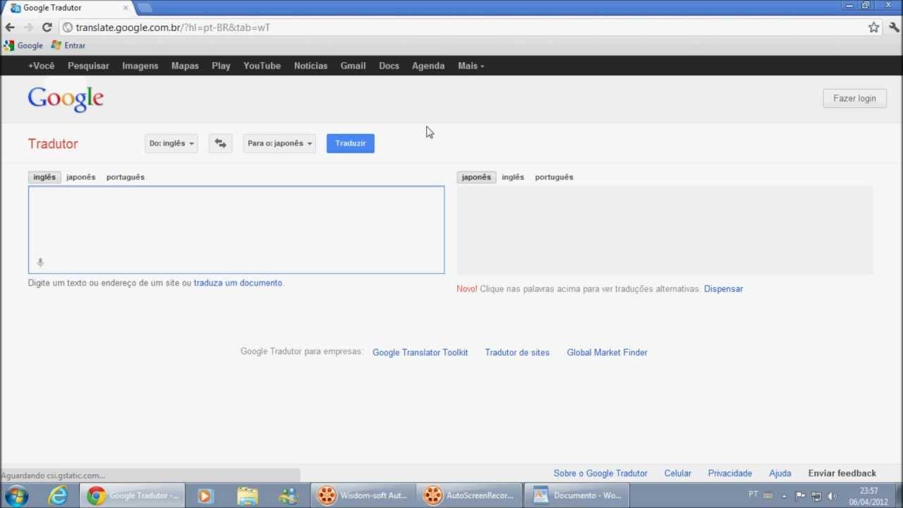 como fazer a mulher do google tradutor cantar a música ... - photo#41