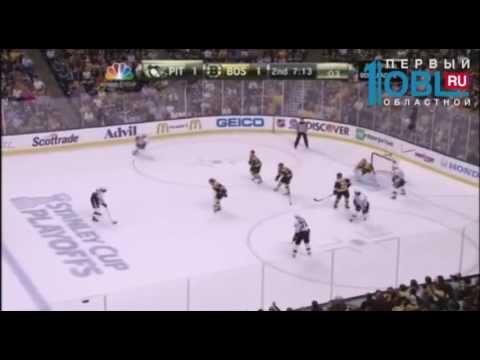 Евгений Малкин в НХЛ броском сломал сопернику ногу