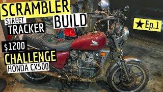 Scrambler / Tracker Build On a Budget Challenge Ep.1, Cafe Racer Honda CX500