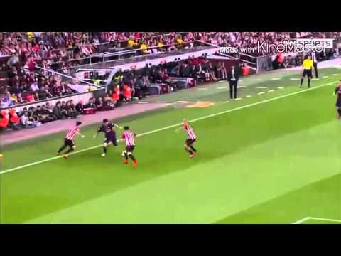 Leo Messi's wonder goal against Bilbao.
