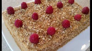 Торт из печенья без выпечки. Быстрый торт без выпечки