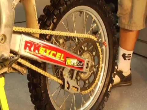 Dirt Bike Chain and Sprocket Installation
