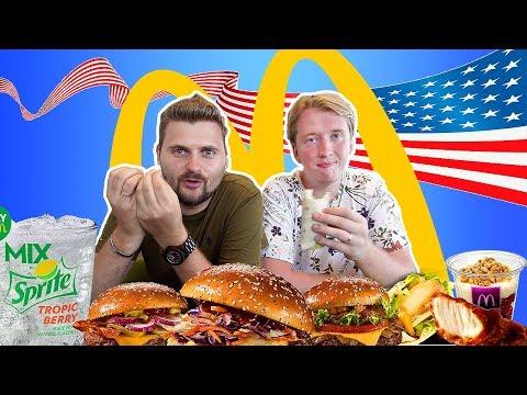 Новое меню Макдоналдс в США с Максом Брандтом
