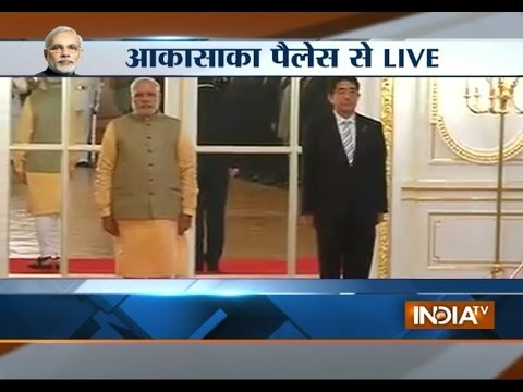 PM Modi With Japanese PM Shinzo Abe: Live From Akasaka Palace - India TV