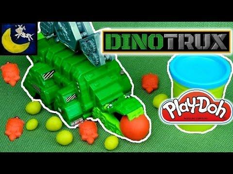 NEW Dinotrux Munchin' Machine Garby Eats Play Doh Rocks! 2016 DINOTRUX Toys!