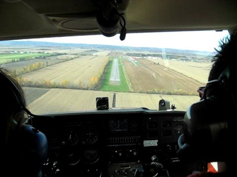 Landing at Joliette Airport, QC, Canada