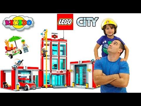 Лего Пожарная Станция 60110. Как пожарные тушат настоящий пожар. Lego City Fire Station.