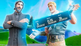 I hit a TRICKSHOT while his STREAM spectated me.. (Exposing My Duos Stats)