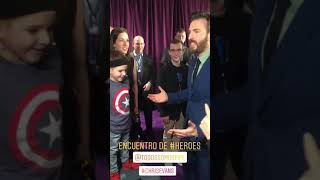 Chris Evans with Pipe at the Avengers: Endgame Premiere