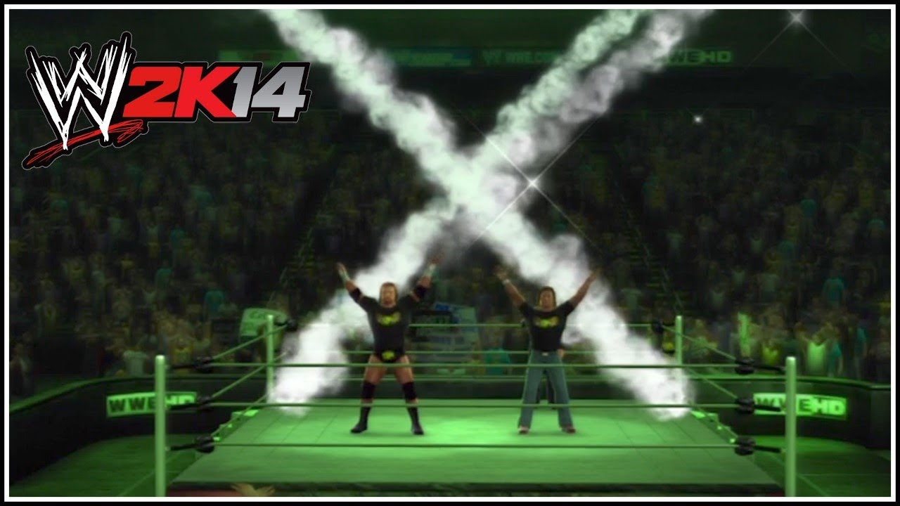 wwe 2k14 we got 2 words for ya dgeneration x entrance