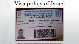 Visa policy of Israel