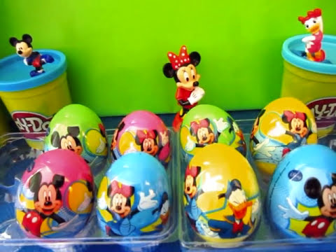 Mickey Mouse Minnie Mouse Play Doh Kinder Surprise Eggs Minnie Mickey Goofly Daisy Donald Duck