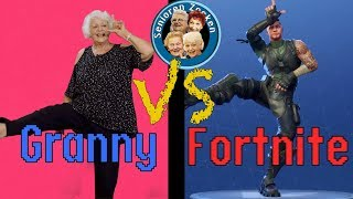 FORTNITE DANCE CHALLENGE BY GRANNYs and GRANDPAs (IN REAL LIFE)