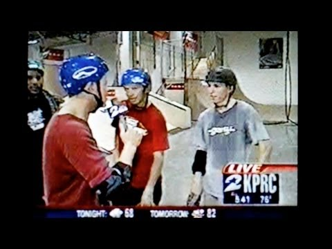 Dan MacFarlane 2001 on NBC with Ray Barbee and Chet Childress at Vans Skatepark of Houston