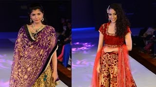 Rupa Manjari and Chinmayi walks the ramp for Nazia Syed at CIFW 2014 Day 3