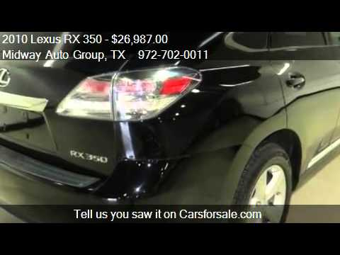 2010 Lexus RX 350 Sun roof - for sale in Addison, TX 75001