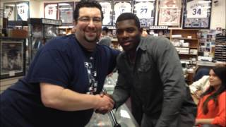 Yasiel Puig Dodgers auto rookie signing at sbaycards