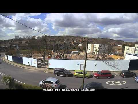 Time Lapse Findon Road-Building Kite Place Brighton. Weeks 5-8