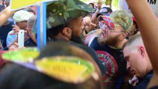 BLM in Charlottesville w/NON Military Suited-Up Police & ACLU Observers