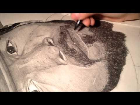 Jamie foxx (Django unchained) draw by Océane Massilia