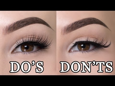 FALSE LASHES DO'S & DON'TS