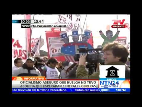 Huelga de sindicatos opositores en Argentina paralizó el sistema de transporte y generó caos
