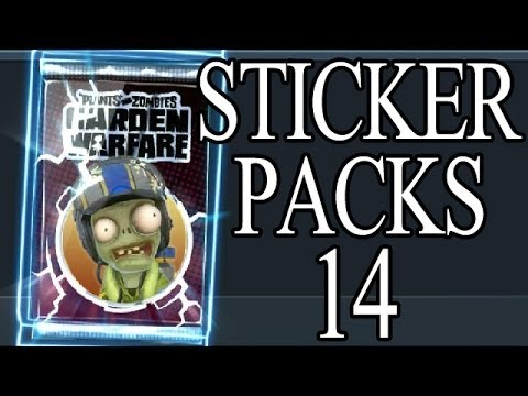 Neuer Zomboss Down Charakter ! Plants vs Zombies Garden Warfare Sticker Packs Opening Part 14