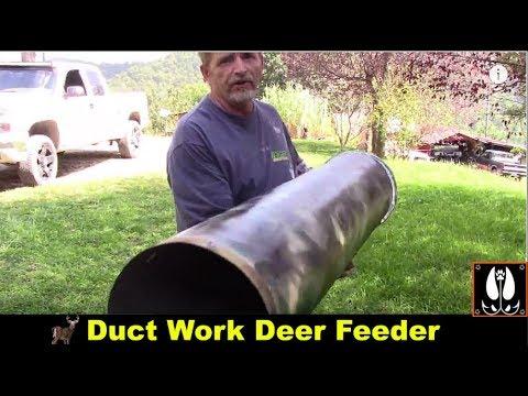 Homemade hanging deer feeder cheap to build