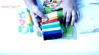 learning colors and number with playdough | learning number for toddlers