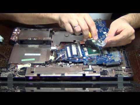 Ноутбук Toshiba Satellite C660 замена процессора.чистка.