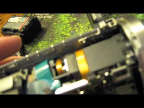 Sony HandyCam DCR-SR68 Teardown and Repair (after drop)