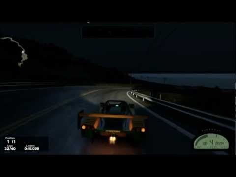 PROJECT CARS - Racer V8 RS - California Highway Night - Gameplay