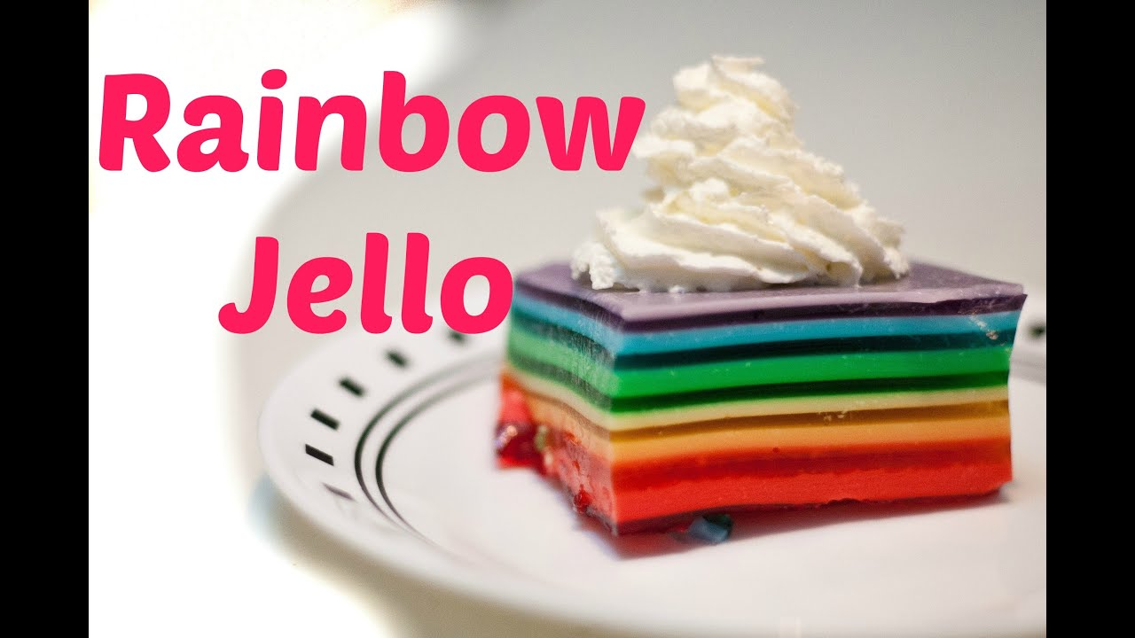Rainbow Ribbon Cake Recipe