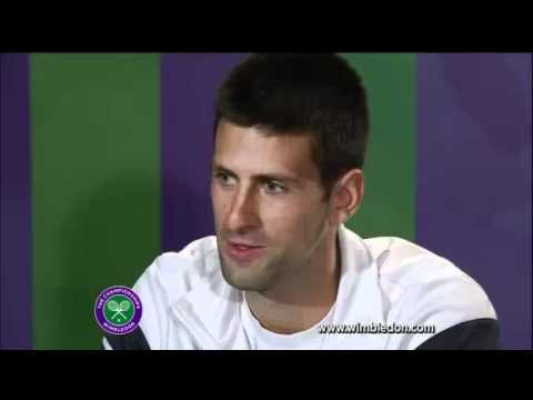 Novak Djokovic interviewed by Caroline Wozniacki