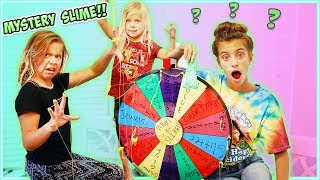 MYSTERY WHEEL OF SLIME!! Sis VS Sis!!