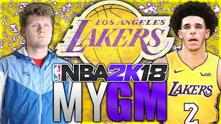 BIG BALLER TIME! NBA 2K18 LOS ANGELES LAKERS MyGM#1