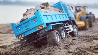 RC contruction | Xe ben chở cát | Rc Hino | Rc Man | RC Volvo | Wheelloader Volvo
