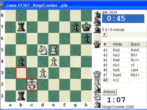 Chessworld.net : Blitz #238 vs. gile (2424) - Philidor: Improved Hanham variation (C26)