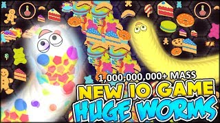 BRAND NEW IO GAME | WARNING: HUGE!!! THE BIGGEST WORMS EVER | WORMATE.io (Games like Slither.io)