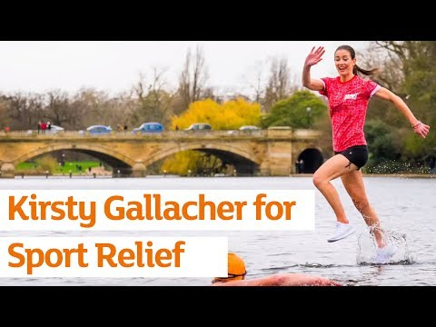 Kirsty Gallacher makes a splash for Sainsbury's Sport Relief Games