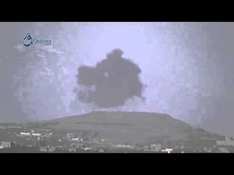 Qasioun News: Daraa: Warplanes launch airstrikes over Tal Antar 13-2-2016