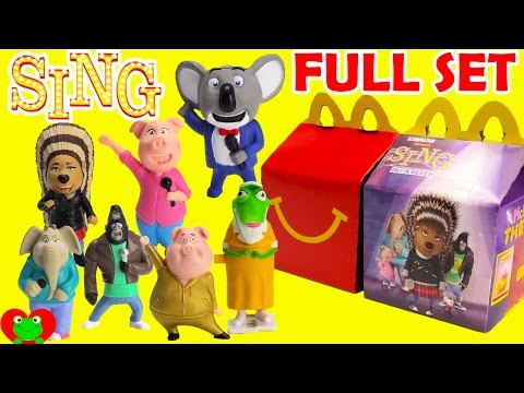 2016 Sing McDonald's Happy Meal Toys Full Set