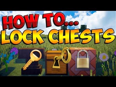 How to Lock Chests in Vanilla Minecraft 1.8! (Minecraft 1.8 Tutorial) [No Mods] [2014]