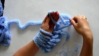 Komin pleciony rękoma