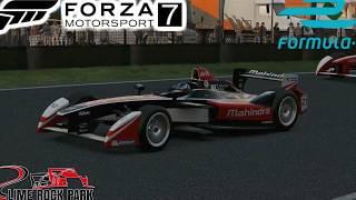forza motorsport 7 lime rock formula e on the simrig