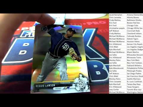 2017 Bowman Chrome Baseball Hobby Box Pick Your Team ID 17BCHOB129