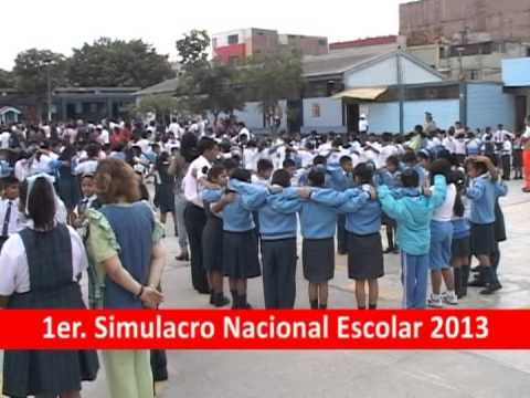 Primer Simulacro Nacional Escolar 2013